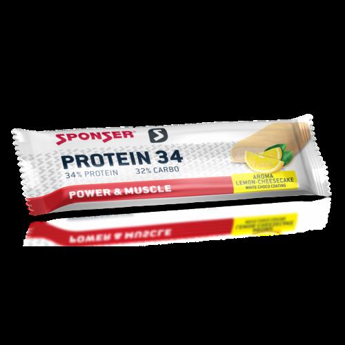 Sponser Protein 34 fehérjeszelet 50g, citrom/sajttorta