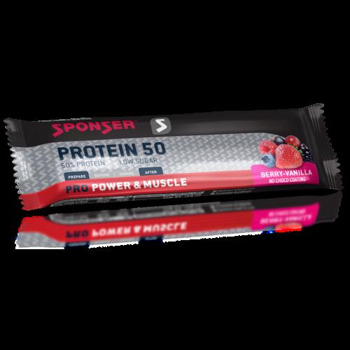 Sponser Protein 50 fehérjeszelet 50g, erdei gyümölcs