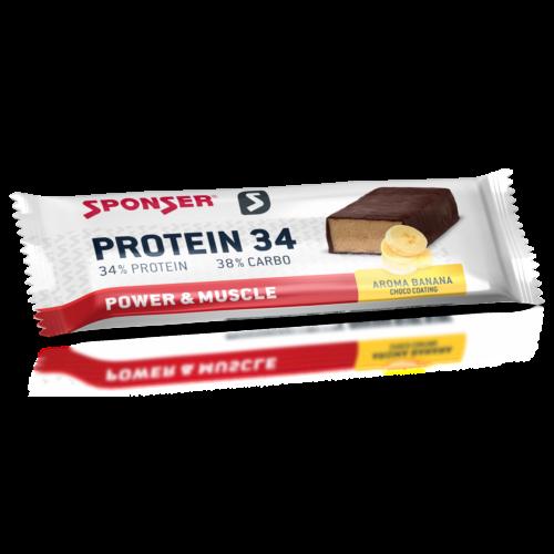 Sponser Protein 34 fehérjeszelet 40g, banán