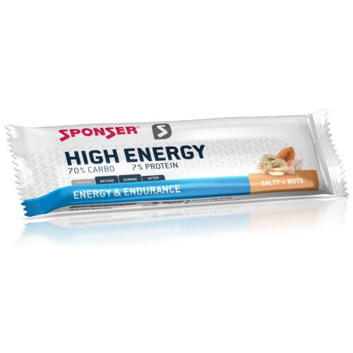 Sponser High Energy energia szelet, Sós mogyoró