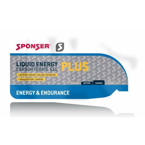 Sponser Liquid Energy Plus koffeines gél, 35g