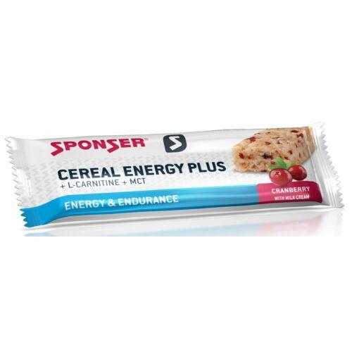 Sponser Cereal Energy Plus müzliszelet 40g, Áfonya